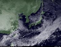 ひまわり7号可視画像 2014年12月9日12時JST