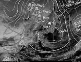 ひまわり7号可視画像・天気図合成 2014年12月10日12時JST