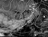ひまわり7号可視画像・天気図合成 2014年12月11日12時JST
