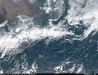 ひまわり8号可視画像 2016年7月4日12時JST