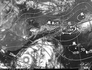 ひまわり8号赤外線画像&天気図合成 2016年7月7日12時JST