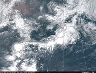 ひまわり8号可視画像 2016年7月9日12時JST