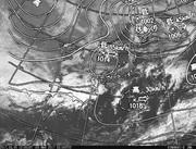 「ひまわり8号」可視画像&天気図合成 2017年3月6日12時JST