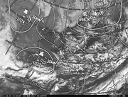 「ひまわり8号」可視画像&天気図合成 2017年3月9日12時JST