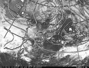 「ひまわり8号」可視画像&天気図合成 2017年4月25日12時JST