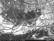 「ひまわり8号」可視画像&天気図合成 2017年4月27日12時JST